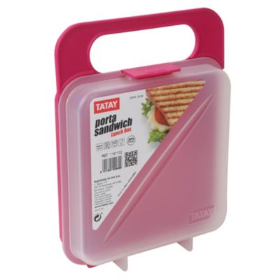 Porta Sandwich Rosa 18x14cm