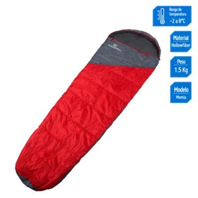 Saco de dormir Momia rojo 230x55cm