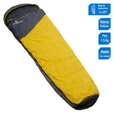 Saco de dormir Momia amarillo 230x55cm