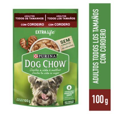 Dog Chow Adultos Trozos de Cordero Jugosos Sobre 100gr