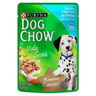 Dog Chow Cachorro Trozos Jugosos de Pollo Sobre 100gr