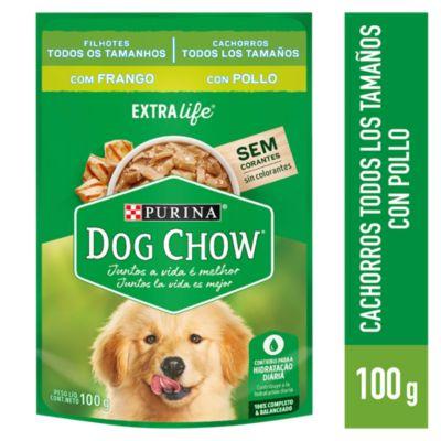 Dog Chow Adultos Trozos de Pollo Jugosos Sobre 100gr