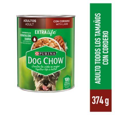 Dog Chow Adultos Cordero Lata 374gr