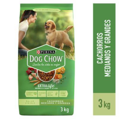 Dog Chow Cachorros Medianos y Grandes 3kg
