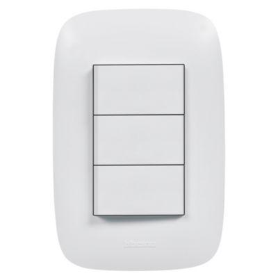 Interruptor Triple Unipolar Domino Sencia Blanco