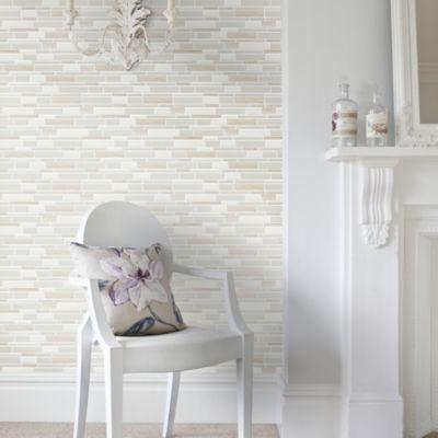 Malla Piedra Porcelanato Mix 30x30cm Blanco