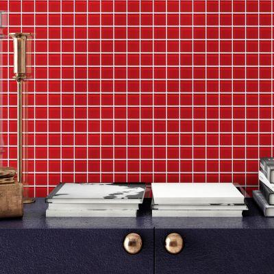 Malla Vidrio 30x30cm Rojo 4mm