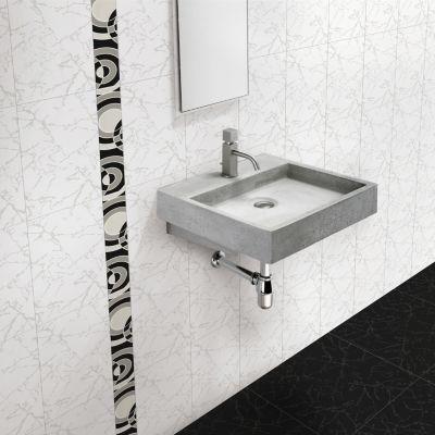 Cerámica Lucienne Blanco Liso 24x40cm para pared