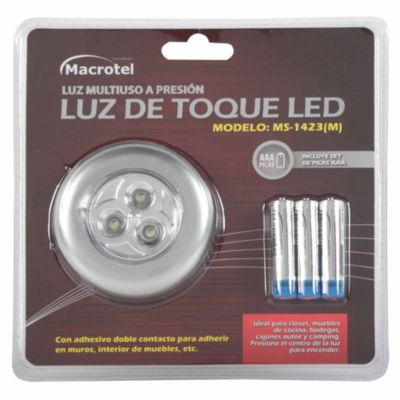Luz de Toque LED + 3 Pilas AAA
