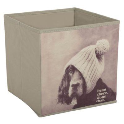 Caja perro gorro 27x28x27cm