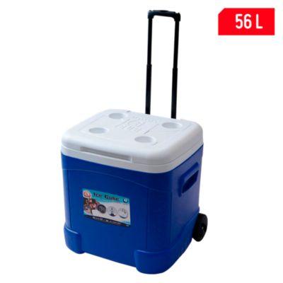 Cooler 56L Azul con ruedas