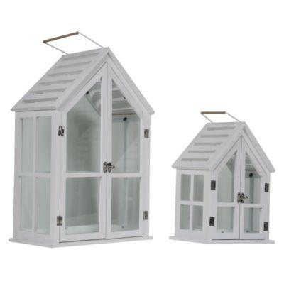 Farol casa blanca madera