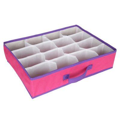 Organizador de ropa interior y medias rosado