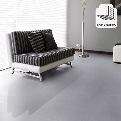 Gres Porcelanico Oxford Plata Liso 60x60cm para piso o pared