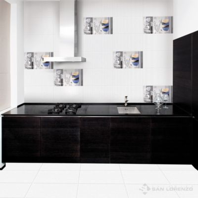 Cerámica Matrix White Textil 45x45cm para piso o pared