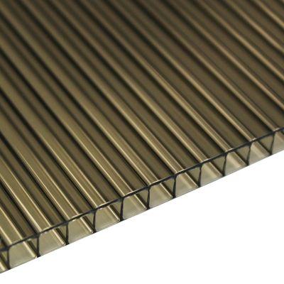 Policarbonato Alveolar Económico Bronce 6mm 2.90x1.05m