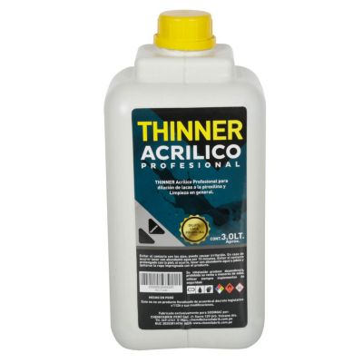Thiner acrílico profesional 3L