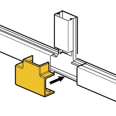 Derivación en T para Mini Canaletas DLP S 15x10 mm