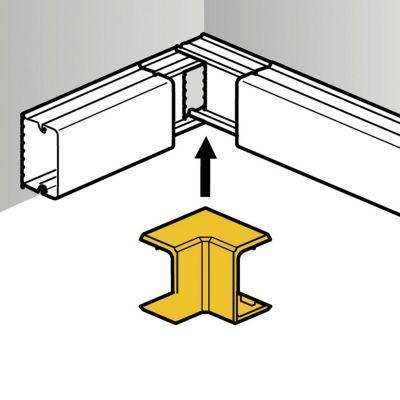 Ángulo Interior para Mini Canaletas DLP S 20x12mm