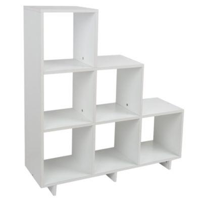 Estante escalera blanco 6 espacios