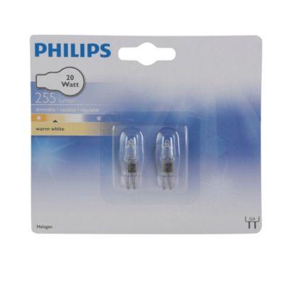 Pack de 2 focos halógeno 20W G4