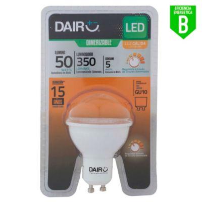 Focos LED Dicroicos 5W Gu10 Luz Amarilla