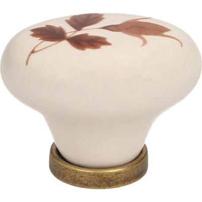 Perilla Porcelana Base Zamak Beige 30 mm