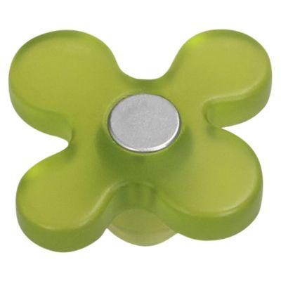 Tirador Perilla 43 mmFlor ABS Verde Pistacho