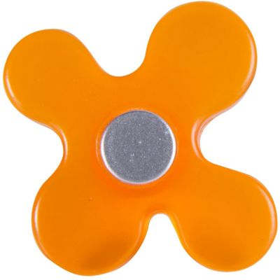 Perilla Flor ABS Naranja Cromado Mate