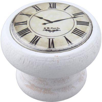 Perilla Madera Reloj Blanco 40 mm