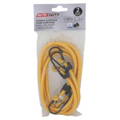 Pack 2 Piezas Cuerdas Elásticas con Ganchos 900 x 8 mm