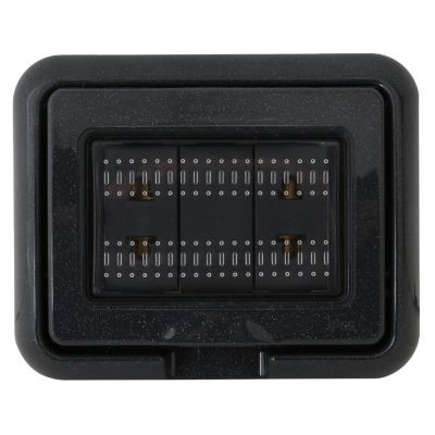 Tomacorriente Idrobox Doble Universal Living Light Antracita