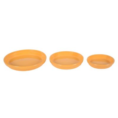Set de 3 platos amarillo
