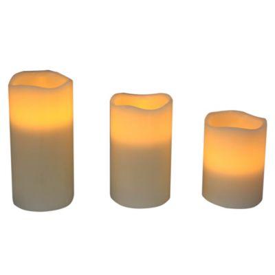 Set de 3 velas Led con control remoto