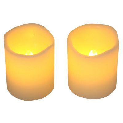 Set 2 velas led Vot Ivory