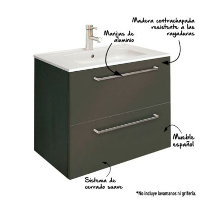 Mueble Vanitorio Easy 60x44.3x56.5cm