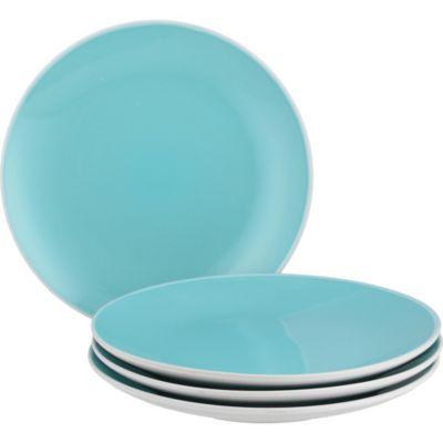 Set de 4 platos azules 20cm