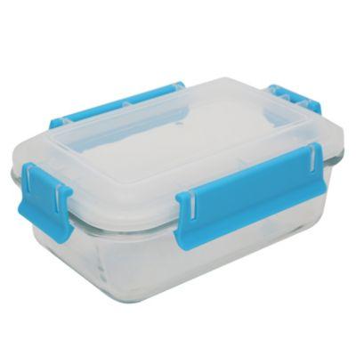 Conservador rectangular de vidrio 0.8L