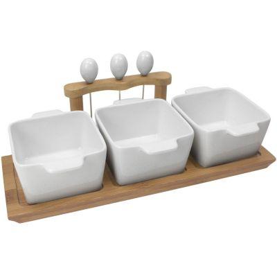 Set de 3 fuentes para piqueo con accesorios