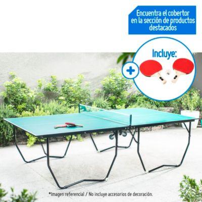 Combo Mesa de Ping Pong + Set de 2 Paletas y 3 Pelotas de Ping Pong
