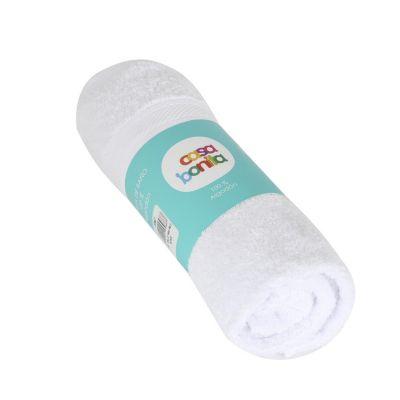 Set de toallas mano y pelo blanco