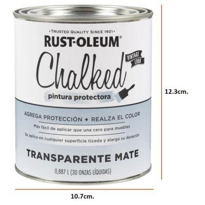Pintura Tizada Ultra Mate Chalked Brochable Transparente 0,887L