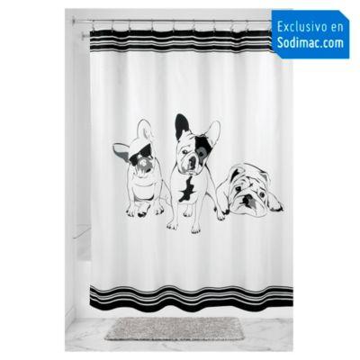 Cortina de baño Bulldog 183x183cm
