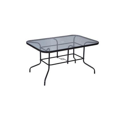 Mesa rectangular de vidrio 140 x 90 cm