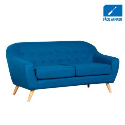 Sofá 3 cuerpos Jurgen azul