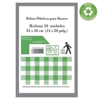 Set de 50 bolsas biodegradables medianas