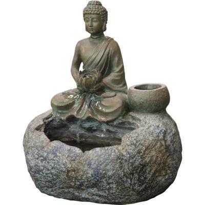 Fuente de agua exterior Buddha