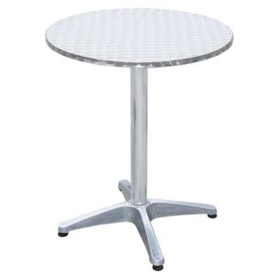 Mesa de aluminio redonda 60x72 cm
