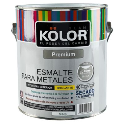Esmalte para Metales Negro 4 L