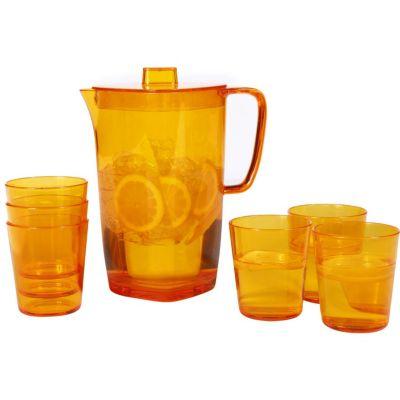 Set Jarra + 6 vasos de acrílico